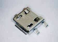 Image of a typical m-USB connector for cell phones